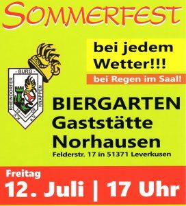 RBK-Sommerfest 2019 @ Gaststätte Norhausen (Biergarten - bei Regen im Saal)